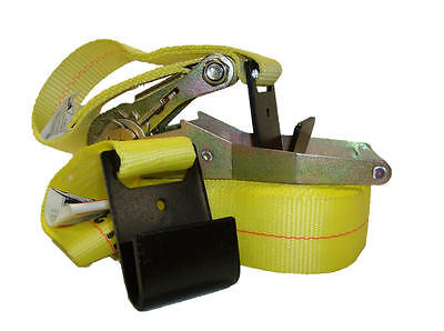 """2"""" x 27' Ratchet Tie Down Cargo Strap with Flat Hooks *Case of 10*"""