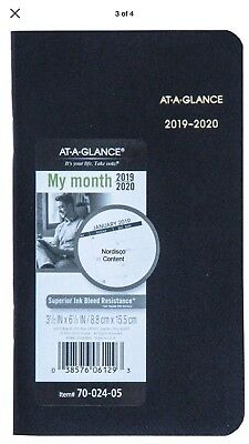 """At-A-Glance 70-024-05, 2019 & 2020 Two Year Monthly Planner, 3-1/2 x 6-1/8"""" New!"""