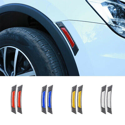 Anti-collision  Wheel Eyebrow Carbon Fiber Edge Guard Car Reflective Sticker