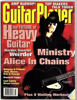 Guitar Player Vintage Magazine Heavy Guitar / Ministry March 1996 Dweezil Zappa