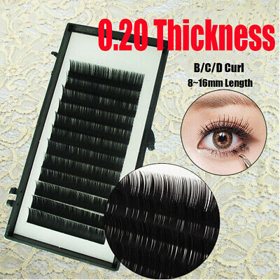 Mink Fan Lashes Volume Eyelashes Extension Curl B C D 8~16mm Individual Eyelash
