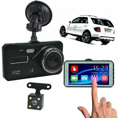 2019 Touch Screen Car Camera Recorder Dual Lens Front and Rear 1080P HD Dash Cam