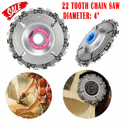"4"" Angle Grinder Disc 22 Tooth Chain Saw For Wood Carving Cutting Plastics Tool"