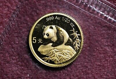 1999 large date China Panda Gold 1/20 oz G5Y  - OMP