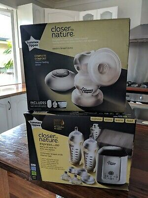 Tommee Tippee Closer to Nature Electric Breast Pump & express & go starter kit