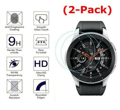 2-Pack Tempered Glass Screen Protector for Samsung Galaxy Watch 42/46 mm