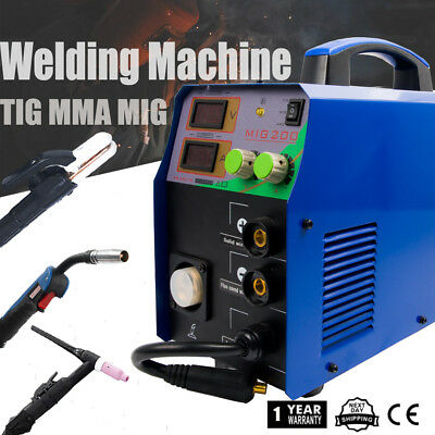 MIG200 3IN1 MIGMMATIG Welder Welding Houshold Machine & TIG Consumable 220V