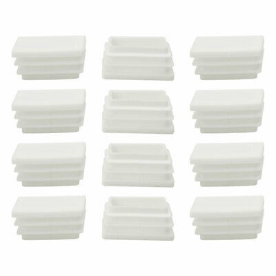 25 x 38mm Rectangle Ribbed Tube Inserts End Cap Chair Table Feet