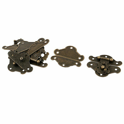Household Dorm Metal Vintage Style Cabinet Case Drawer Luggage Hasp Latch 6 Pcs