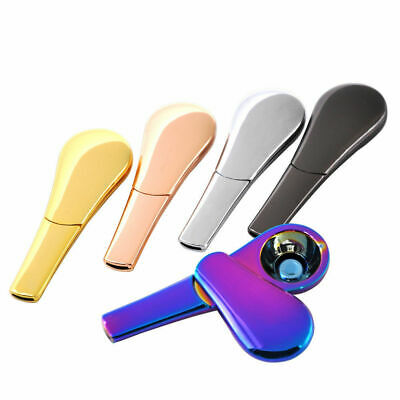 Portable Spoon Shape Smoking Pipe Magnetic Metal Tobacco Accessories Removable
