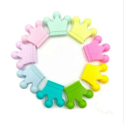 DIY 1pcs Food grade silicone Teether Crown beads Baby Pacifier clip Molar toy