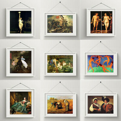 Classical Art Oil Painting Canvas Poster Prints Pictures Living Room Wall Decor