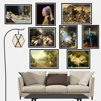 Classical Art Oil Painting Canvas Poster Prints Wall Hanging Picture Home Decor