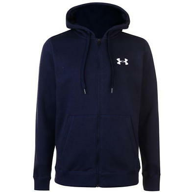 Under Armour Rival Fitted Full Zip Hoody Mens Long Sleeve Pullover size Large