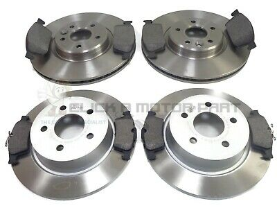 FORD TRANSIT CONNECT FRONT 2 BRAKE DISCS AND PADS /& REAR SHOES /& FITTING KIT SET