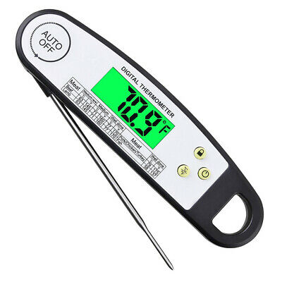 Foldable Digital Cooking Thermometer Food Probe Meat Grill BBQ Kitchen Tools
