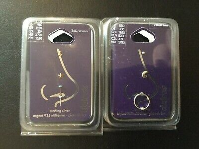 Claire S Sterling Silver Nose Studs Argent 925 Milliemes 6 25