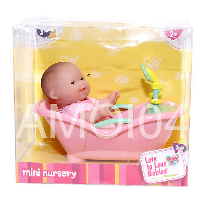 Berenguer Baby Doll Mini in Bath Tub Lots to Love Babies For Ages 2+ New