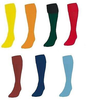 Pack of 12 Football Plain Socks Rugby Hockey Soccer Boys Kids Girls