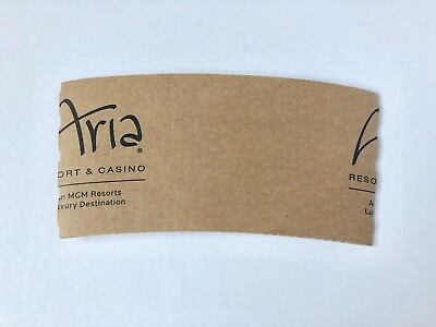 MGM's ARIA Casino & Hotel Resort LAS VEGAS Paper Coffee Cup Sleeve, Collectible