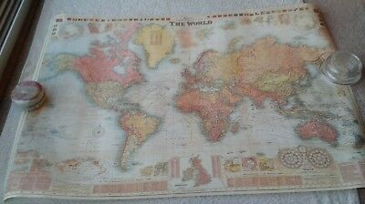A Poster of Bacon's New Chart of The World Mercator's Projection. By G.W. Bacon