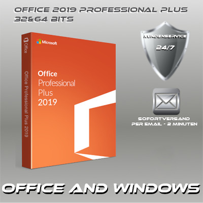 Microsoft Office 2019 Professional Plus 32&64 Bits ProduktKey per E-Mail