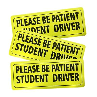 Set Of 3 Please Be Patient Student Driver Decal Reflective New Driver Decal N3G4