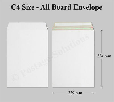 All Board White Envelopes Peel & Seal C4 Mailer Cheapest Price available
