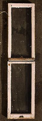 "Pair 18""x73"" Antique Vintage Double Hung Wood Wooden Sash Window Glass Lite Pane"