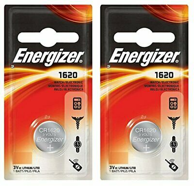 2 x Energizer 1620 CR1620 3V Lithium Coin Cell Battery - DL1620 KCR1620 BR1620