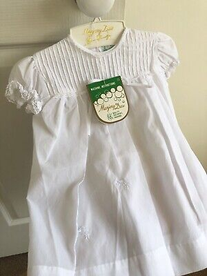 RARE 1980's Vintage Christening Baptism White Dress NEW + Tags! Immaculate Cond