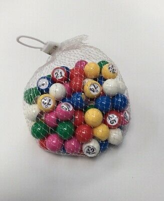 PLASTIC 22mm BAG CAGE BINGO BALLS FOR NUMBER CALLING BY BINGO CALLER raffle draw