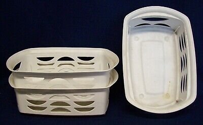 Restaurant Equipment Bar Supplies 3 WHITE TRAYS BASKETS ROUNDED ENDS