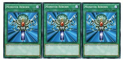 Yugioh - 3X Monster Reborn - Common - 1st Edition - YGLD(A)-ENA23 - NM