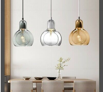 Vintage Industrial Globe Glass Shade Pendant Ceiling Lights Lighting Fixtures