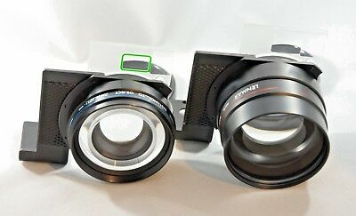 Lenmar Auxiliary Lenses (Wide Angle and Telephoto) in Case - Nice!