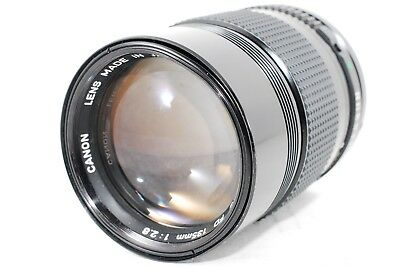 Canon New FD 135mm f2.8 Telephoto MF Lens f/2.8 NFD [As-Is] from JAPAN