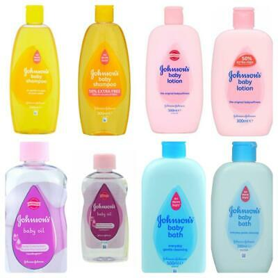 2xJohnson's Baby Shampoo Bath Lotion Oil Kids Child Toiletries Babycare Products