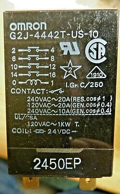 1 NOS Omron G2J-4442T-US-10 All Purpose Relay (24VDC Coil, 120-240 VAC @ 20 A )