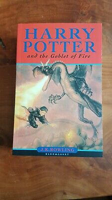 First edition Harry Potter and the Goblet of Fire by J.K. Rowling Paperback