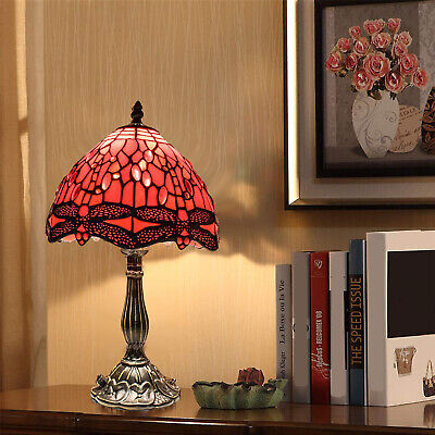 Antique Style New TIFFANY Table Lamp Multi Colour Bed/Living Room Hand Crafted