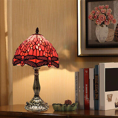 New TIFFANY Table Lamp Antique Style Multi Colour Bed/Living Room Hand Crafted