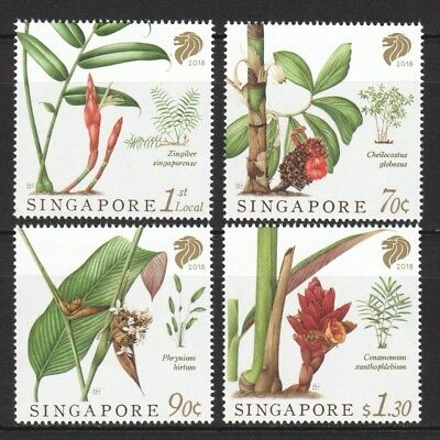 Singapore 2018 Native Gingers Of S'pore Comp. Set Of 4 Stamps In Mint Mnh Unused