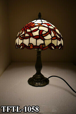 New Antique Style Multi Colour TIFFANY Table Lamp Bed/Living Room Hand Crafted