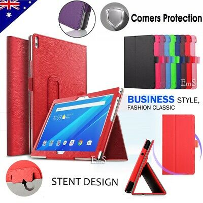 Lenovo Tab E10 M10 10.1 Inch Tablet Leather Flip Folding Stand Tough Case Cover