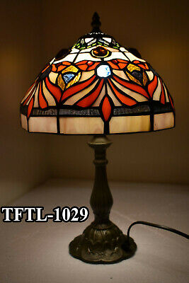 New Hand Crafted Antique Style TIFFANY Table Lamp Bed/Living Room Multi Colour