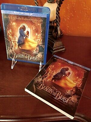 Disney BEAUTY & THE BEAST Emma Watson  Blu-ray & DVD with Slipcover