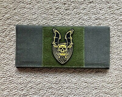 Mick Strider Knives Collectible Canvas Knife Pouch Winged Halo Skull Patch NEW