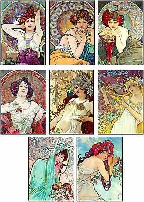 Art Nouveau Glossy Finish Card Toppers - Crafts Embellishment