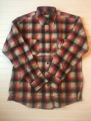 ecd0021c SUTTON PLACE Sz Large 100% Cotton Flannel Plaid Men's Shirt Long Sleeve NEW  VTG